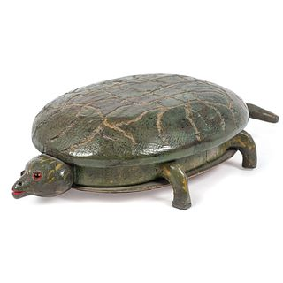 A Folk Art Carved and Painted Turtle