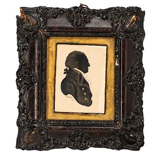 A Watercolor Silhouette, Signed Morris and Dated 1791