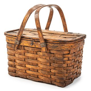 A Split Oak Picnic Basket