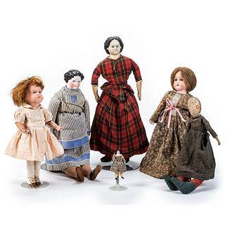 Six Victorian Dolls