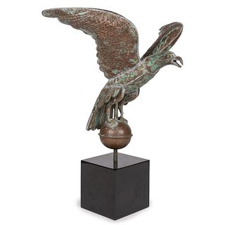 A Molded Copper Eagle Weathervane