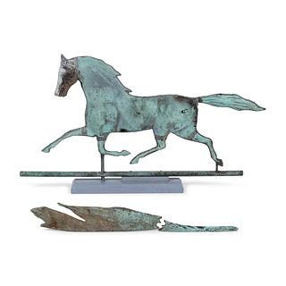 An American Copper Trotting Horse Weathervane, Circa 1880
