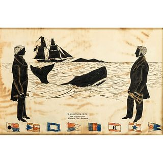 A Contemporary Whaling Silhouette Advertisement