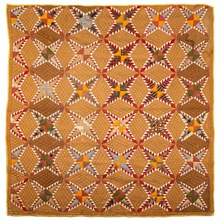 A Pieced Phillipines Star Quilt, Georgia, Circa 1890