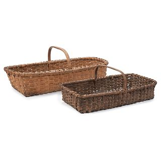 Eight Oak Split Baskets