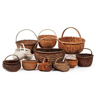 Eleven Woven Buttocks and Gathering Baskets