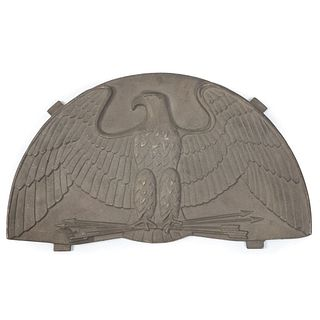 A Cast Iron Eagle Plaque
