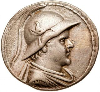 Baktrian Kingdom. Eukratides I. Silver Tetradrachm (16.74 g), ca. 171-145 BC.