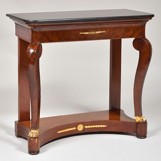 Louis Philippe Ormolu-Mounted Mahogany Console Table
