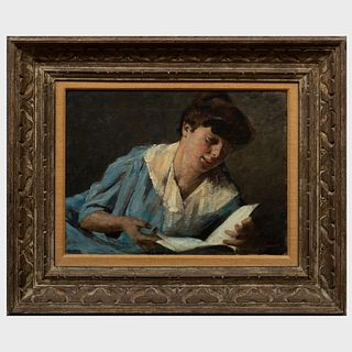 Armin Glatter (1861-1931):  Woman with Book