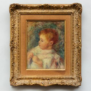 School of Pierre Auguste Renoir (1841-1919): Young Child
