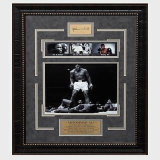 Muhammad Ali Photographs and Brass Plaque