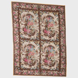 Floral Needlepoint Carpet, Late 20th Century