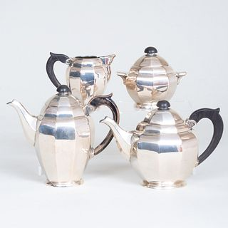 Polish Silver Four Piece Tea and Coffee Service