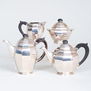 Polish Silver Four Piece Tea and Coffee Service