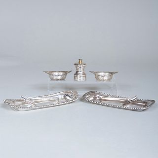 Group of Silver and Silver PlateTable Articles