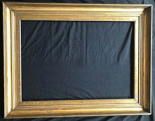 Antique Gold Leaf with Leaf Motif Wood Picture Frame, 19th- early 20th C