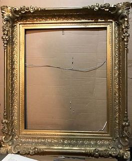 Antique Gold Leaf Ornate Design Exceptional Picture/Mirror Frame,19th/20th C