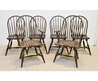 Stickley Set of Six Windsor Style Chairs