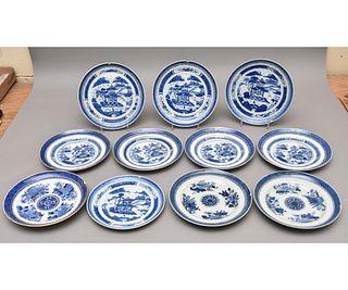 Four Chinese Nanking Plates etc.