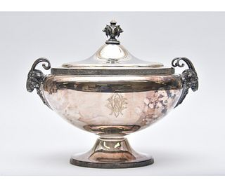 Gorham Silver Plate Animal Decorated Tureen
