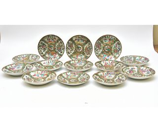 Thirteen Rose Medallion Deep Plates