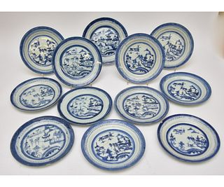 Twelve Canton Plates