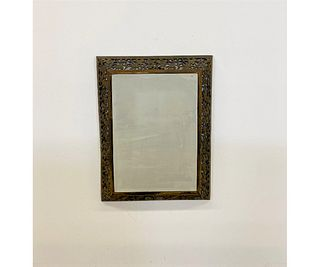 Metal and Beveled Glass Mirror