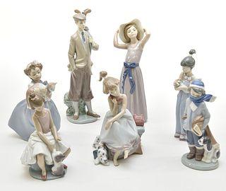 Seven Lladro Figurines