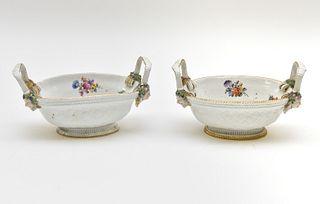 Meissen Sweet Meat Porcelain Baskets