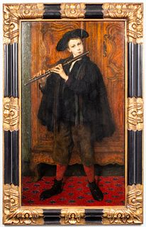 "Cesare Auguste Detti ""Musician"" Oil on Panel"
