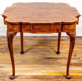 Italian Rococo Style Walnut Game Table
