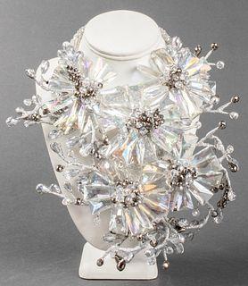 Vilaiwan Lucite & Beaded Flower Necklace