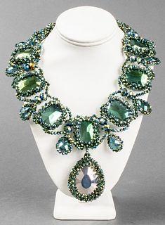Vilaiwan Iridescent Beaded Pendant Necklace