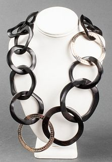 John Hardy Silver & Wood Chain Necklace