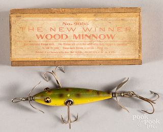 The New Winner Wood Minnow box, etc.