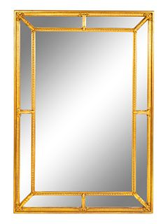 A Neoclassical Style Rectangular Mirror Height 44 3/4 x width 31 inches.