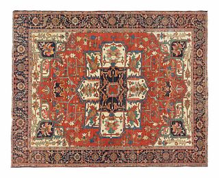 A Serapi Wool Carpet12 feet 2 inches x 10 feet 5 inches.
