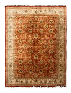 An Agra Wool Carpet 12 feet 3 inches x 9 feet 2 inches.