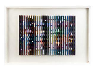 Yaacov Agam (American/Israeli, b. 1928) Rainbow Delight, 1970