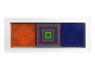 Yaacov Agam (American/Israeli, b. 1928) Untitled (Concentric Squares), 1970