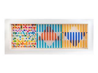 Yaacov Agam (American/Israeli, b. 1928) Untitled (Triangles), 1970