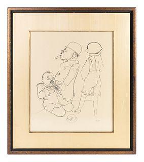 George Grosz (German/American, 1891-1959) Serenata, 1928
