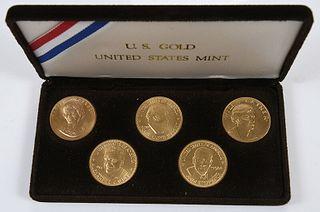 Five Gold Postal Medallions