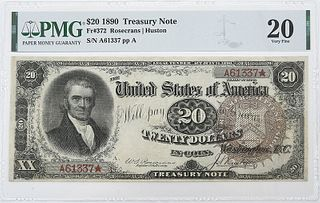 1890 $20 Treasury Note