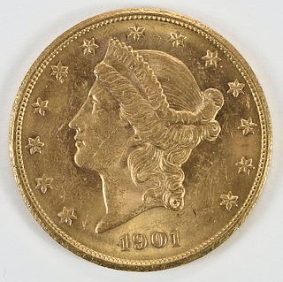 1901-S Liberty Head $20 Gold Coin
