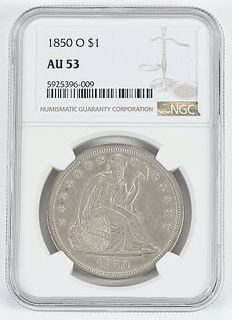 1850-O Seated Liberty Dollar