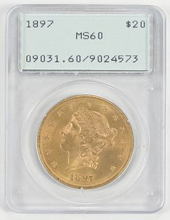 1897 Liberty Head $20 Gold Coin