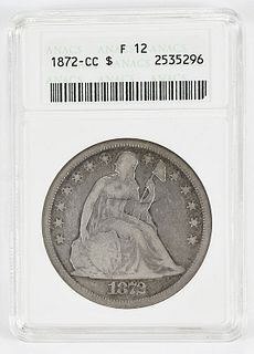 1872-CC Seated Liberty Silver Dollar
