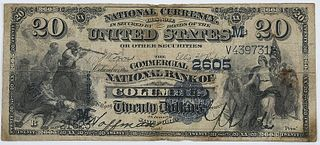 1882 $20 Commercial NB Columbus, Ohio